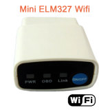 Scanner diagnostique automatique de véhicule de l'outil Elm327 OBD2 de scanner de véhicule du WiFi OBD2 de la surface adjacente Elm327