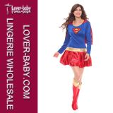 Costumes Supergirl супергероя Halloween (L1325)