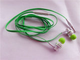 Metal Earphone Stereo Sound com Mic 3.5mm Flat Wire Cable