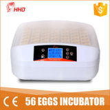 L'éclairage LED de Hhd de promotion de jour national a incubateur automatique d'oeufs de poulet de fonction de test d'oeufs le mini pour 56 oeufs (EW-56S)