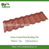 Tuile de toiture en acier enduite de pierre colorée (type de Milan)
