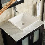 Position libre d'expresso de Fed-1181A au-dessus des Modules de salle de bains en bois montés de bassin en céramique