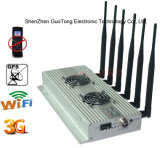 강한 Power Signal Jammer GSM 3G GPS WiFi Signal Jammer 2 Cool Fans 6 Bands Desktop Cellphone Signal Jammer