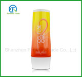 Tube excentré personnalisé de produit de beauté en plastique pour la lotion de corps de shampooing