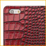 Caja al por mayor del teléfono celular para el iPhone 6, caja de cuero del teléfono celular de la carpeta