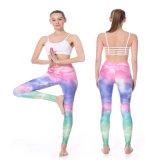 La compresión al por mayor modificada para requisitos particulares de las medias de la yoga de la sublimación que desgasta jadea a mujeres