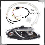 Super helles 9W LED Auto beleuchtet flexible Tagespositionslampe des VW-Polo-LED DRL/für Toyata Hochländer /Camry