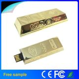Barra de ouro por atacado Pendrive do USB 2.0 de China 8GB