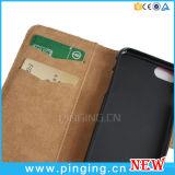 Caja móvil de cuero del teléfono celular del tirón para el iPhone 7/6/6s más casos