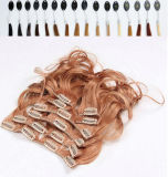 8A 240g Virgin brasiliano Human Clip in Hair Extensions
