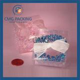 Caja de embalaje plástica transparente de Macarons (CMG-PVC-029)