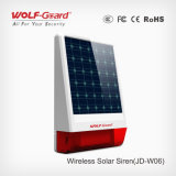 Alarme de sirene de energia solar sem fio à prova de água ao ar livre pode funcionar como um painel e como uma sirene