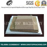 Panneau de production feuilletant ondulé vertical de papier