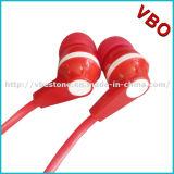 Fones de ouvido populares do cabo de Falt da alta qualidade com Mic