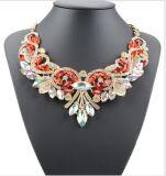 Ювелирные изделия ожерелья чокеровщика способа заявления цветка сплава диаманта кристаллический
