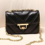 Sac à main Emg4727 de femmes de type de la géométrie de cuir véritable de Madame Handbag de créateur