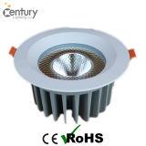 15~60W CREE garantizado calidad LED Downlight con el programa piloto de Meanwell