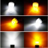 7443 7441 7444 bulbos brancos do poder superior de T20 5W/ambarinos brilhantes super do diodo emissor de luz do Switchback do brilho 360-Degree para luzes de sinal dianteiras da volta
