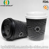 Wegwerfkräuselung-Papier-Kaffeetasse für das heiße Trinken (16 Unze)