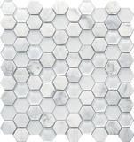 Mosaico de pedra de mármore de cristal/pedra de vidro da mistura do mosaico
