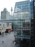 Costruzione di vetro della parete divisoria del blocco per grafici di alluminio visibile