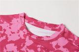 Sportswear cor-de-rosa Bodybuilding dos homens da camisa do superman da ginástica da aptidão da compressão (AKJSY-2015042)