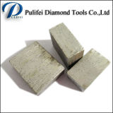 Segmento de diamante Fabricante Hoja de sierra de corte de mármol granito Segmento