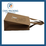 Saco de papel de Kraft Brown com cetim de nylon (CMG-MAY-023)