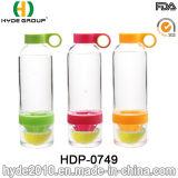 La bottiglia di acqua poco costosa di Infuser della spremuta della pressa del limone, BPA libera la bottiglia di infusione della frutta di Tritan (HDP-0749)