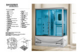 Sitio de ducha del sitio de vapor del diseño de la manera (D529)