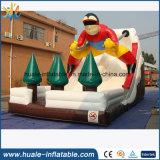 Divertimento caldo che fa pubblicità alla trasparenza gonfiabile di corsa con gli sci, giocattolo educativo per i capretti