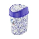 Chiquenaude bleue et blanche de modèle de la Chine de porcelaine sur le casier d'ordures (FF-5233)
