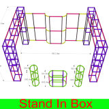 Будочка торговой выставки 3X6X2.5 движимости регулируемая новая многоразовая модульная с хранением