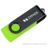 Bastone di plastica portatile di memoria del USB della parte girevole per il regalo di promozione