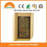 золотистая, котор развевали солнечная плитка крыши 8W