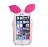 cubierta guarra linda de la caja de la piel del silicón del cerdo 3D para el iPhone para Samsung Moto Sony