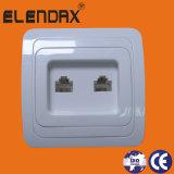 Accessori del telefono, doppio europeo dello zoccolo di parete del telefono (F2207)