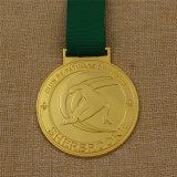 Médaille faite sur commande de ski de sport en métal pour le bronze d'argent d'or de récompense