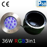 36W RGB LEDの非対称的なレンズ(JP948124-AS)が付いている水中プールライト