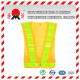 De geelgroene Hoge Kleding van het Zicht met Hoog Materiaal Vis (vest-3)