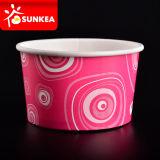 Taza respetuosa del medio ambiente de encargo de papel del helado