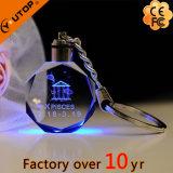 De hete 3D Giften van Keychain van het Kristal van het Glas van de Luxe (yt-3271-02L)