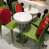 4 Seaters weiße Kaffee-Tische und Stühle für Verkauf