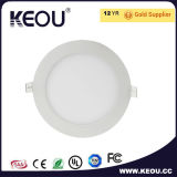 Éclairage LED rond mince de panneau d'éclairage LED de panneau d'usine d'éclairage LED d'OIN