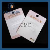 Cartão cor-de-rosa com entalhe para a curvatura do cabelo (CMG-064)
