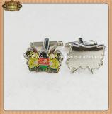 Cufflinks Silver degli uomini e Gold Cufflinks con Full Printing Image, Brass Cuff Link (JINJU16-011)