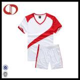 カスタムロゴ最新のデザイン通気性の男子サッカージャージー