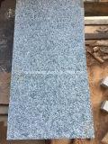 Telhas chinesas de pedra naturais do granito do verde verde-oliva para a parede/assoalho