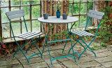 Tabla de plegamiento del metal clásico barato popular al aire libre Patio Restaurante muebles y sillas de jardín