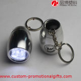 Keychain를 가진 플라스틱 Mini LED Rechargeable Battery Flashlight